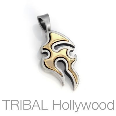 Bico Amoeba Gold and Silver Creative Energy Necklace Pendant