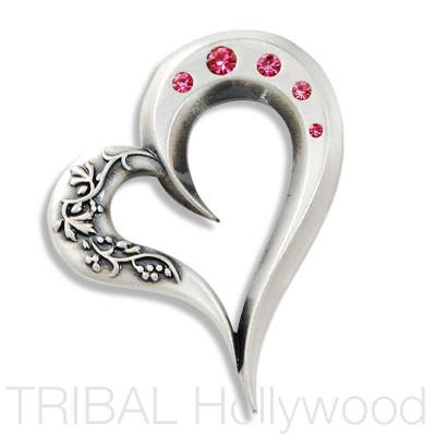 COONAWARRA OPEN HEART PENDANT with Swarovski Crystals | Tribal Hollywood