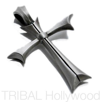 A FATED CROSS Mens Necklace Pendant in Silver