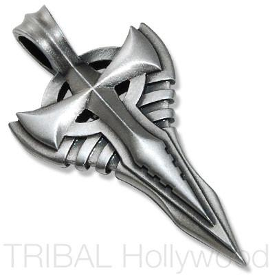 THE BACKUP Sword Cross Pendant in Silver