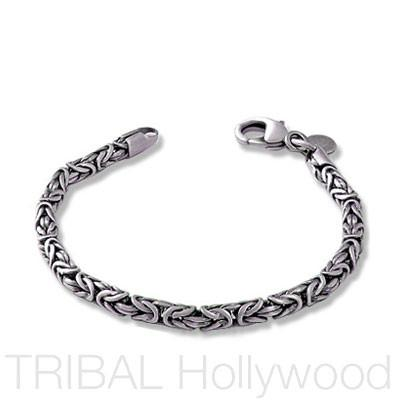CROWN Byzantine Silver Bracelet | Tribal Hollywood