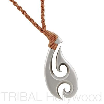 SALOTE Tongan Bird Tattoo Braided Cord Tribal Surf Necklace