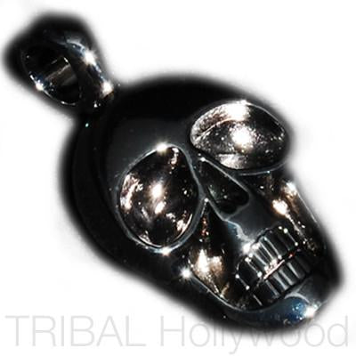 MORTY Black Skull Pendant in Gunmetal
