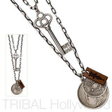 THE COLONIALIST Key and Coins Double Chain Set | Tribal Hollywood