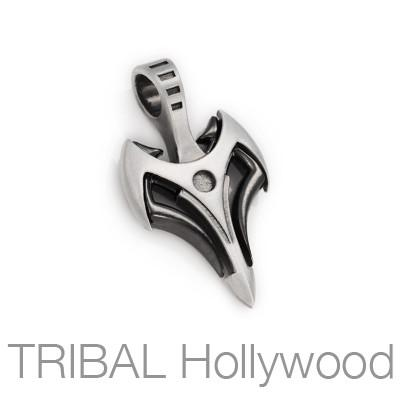 Bico Universe Gunmetal Tribal Arrow Mens Necklace Pendant