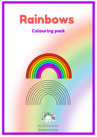 Rainbows Colouring Poster Pack
