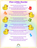 Nursery Rhymes Lyrics Poster Book | Over 30 popular songs & rhymes to sing along to