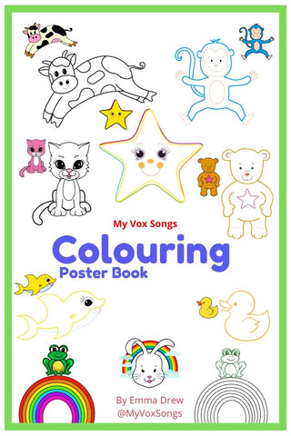 Nursery Rhymes Poster Character Colouring Book