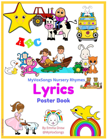 Nursery Rhyme lyrics, download, select and print for your home nursery or kids rooms.