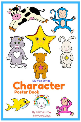 MyVoxSongs Nursery Rhymes Character Poster Book