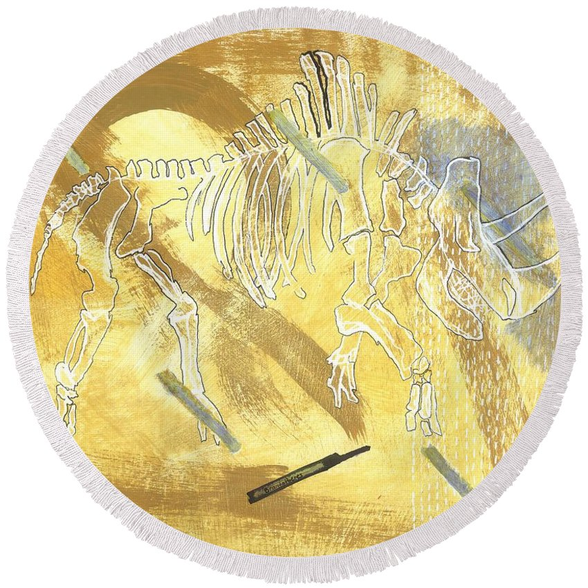 Coelodonta Antiquitatis - Round Beach Towel