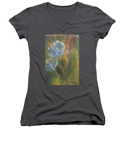 Mutualism Coral Reef - Women's V-Neck T-Shirt