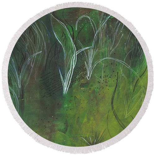Mutualism Seagrass Beds - Round Beach Towel