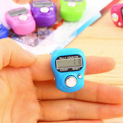 Stitch and Row Finger Counter LCD Electronic Digital Tally Counter