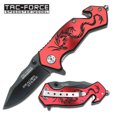 AO Red Dragon Rescue Knife - Camp Champs Club