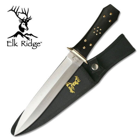 Elk Ridge Coffin Handle Dagger Knife - Camp Champs Club