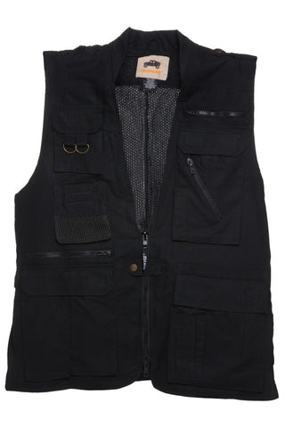 Humvee Photo Safari Vest Black - Camp Champs Club