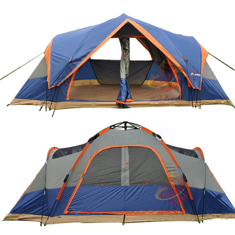 Top Lander Double Layer Automatic Tent Camping for 5-6 Persons - Camp Champs Club