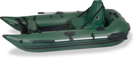 Sea Eagle 285 Deluxe Green Inflatable 9ft Pontoon Boat - Camp Champs Club