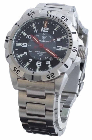 Smith & Wesson Emissary Watch - Silver - SWISS TRITIUM - Camp Champs Club