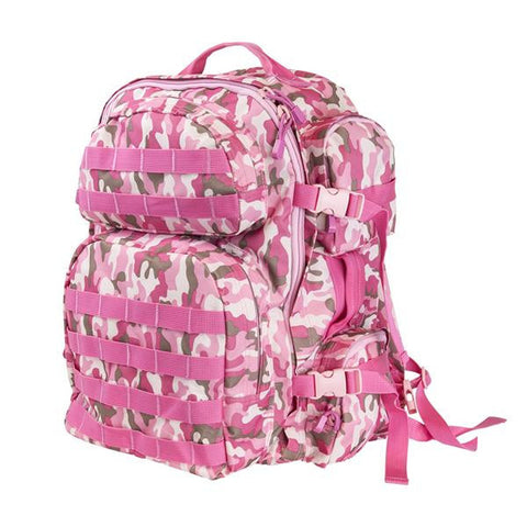 NcStar Tactical Backpack/ Pink Camo - Camp Champs Club