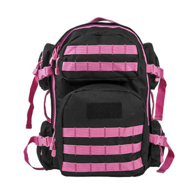 NcStar Tactical Backpack/ Black W/Pink Trim - Camp Champs Club