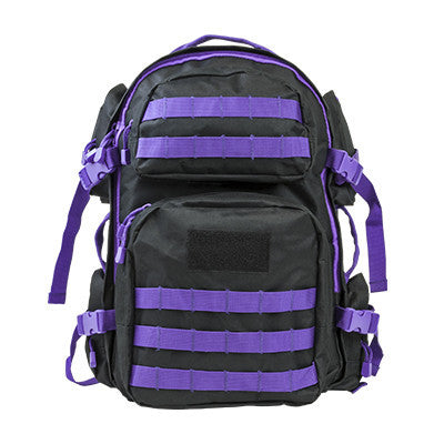 NcStar Tactical Backpack/ Black W/Purple Trim - Camp Champs Club