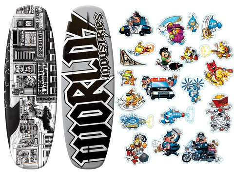 World Industries Stick-o-Rama Wakeboard 135cm - Camp Champs Club