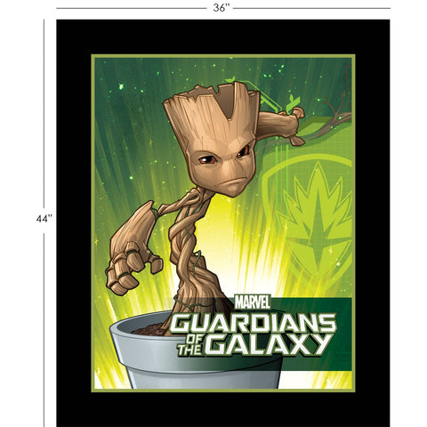 Camelot Fabrics  - Marvel Comics - Guardians of the Galaxy -Baby Groot - Panel