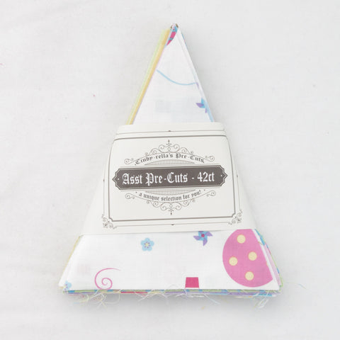 Precut Stash Small Isosceles Triangles - Kids - Pink and Blue - 42ct