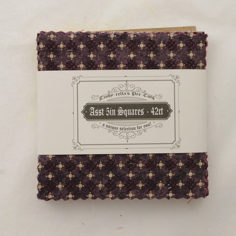 "PreCutStash 5"" Squares - Brown and Yellow - 42ct"
