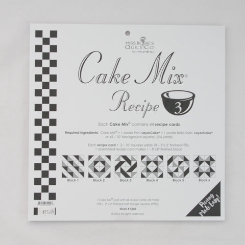 Moda - Miss Rosie's Quilt Co - Cake Mix Recipe Pattern #3