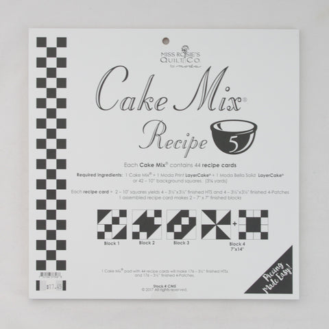 Moda - Miss Rosie's Quilt Co - Cake Mix Recipe Pattern #5