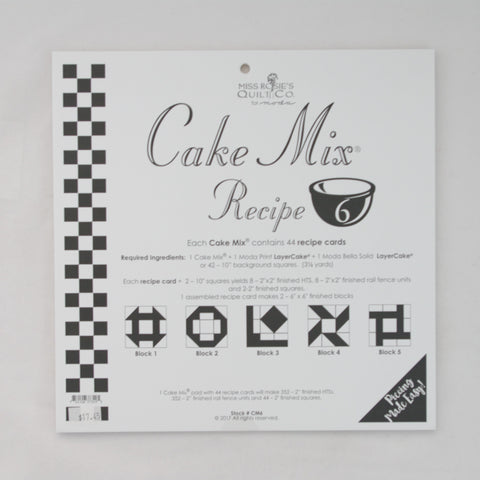 Moda - Miss Rosie's Quilt Co - Cake Mix Recipe Pattern #6