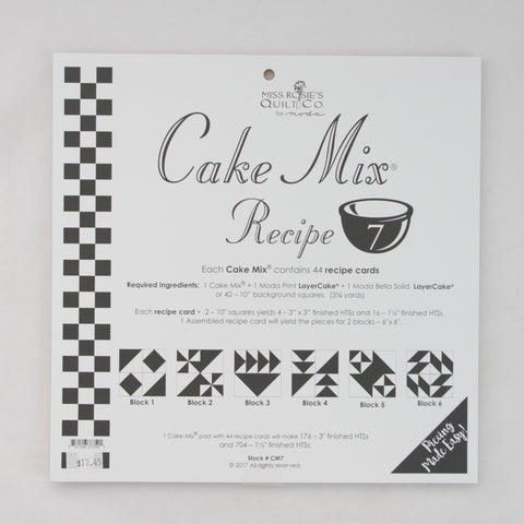 Moda - Miss Rosie's Quilt Co - Cake Mix Recipe Pattern #7