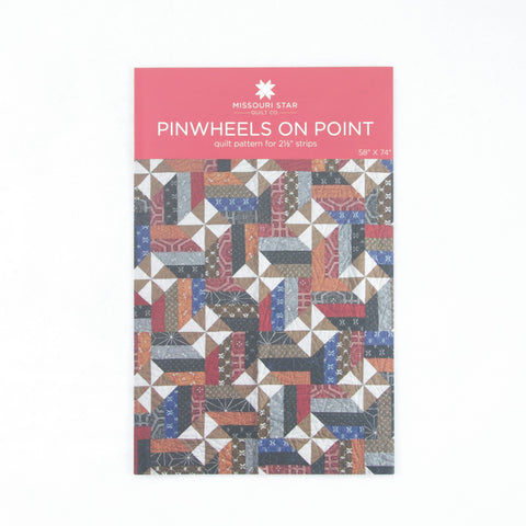 "Missouri Star Quilt Company 2.5"" Strips Pattern - Pinwheels On Point"