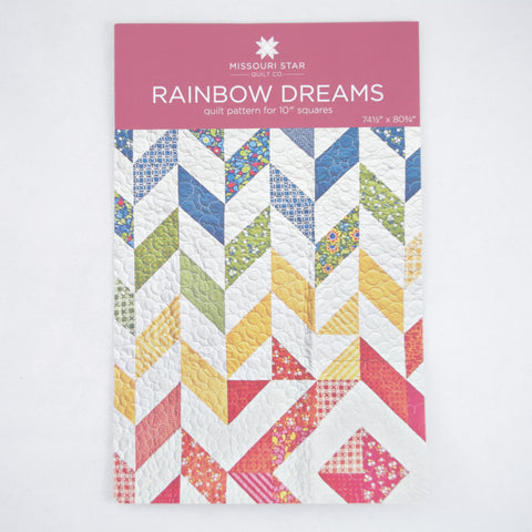 "Missouri Star Quilt Company 10"" Squares Pattern - Rainbow Dreams"