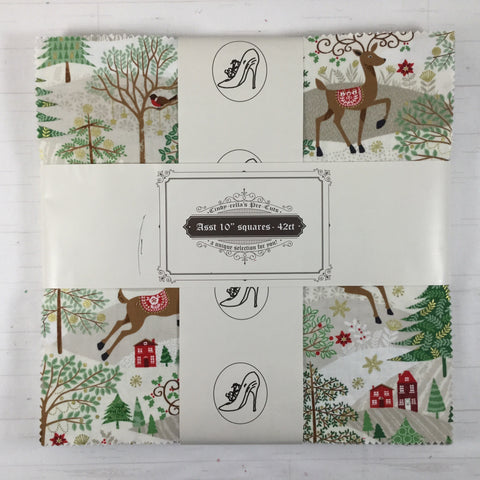 "Cindy-rella's Reindeer Christmas 10"" squares"