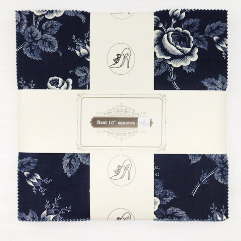 "Cindy-rella's 10"" Squares - Mary Koval - Abigail Blue - 48ct"