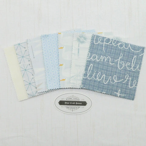 "Cindy-rella's 5"" Squares - Grey and Blue - 42ct"