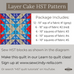 "Cindy-rella's Asst. Designer 10"" Squares - Layer Cake HST Quilt Kit - Blue and Red"