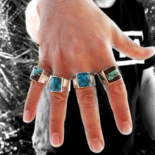 mens silver and turquoise rings