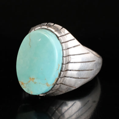 big mens turquoise rings