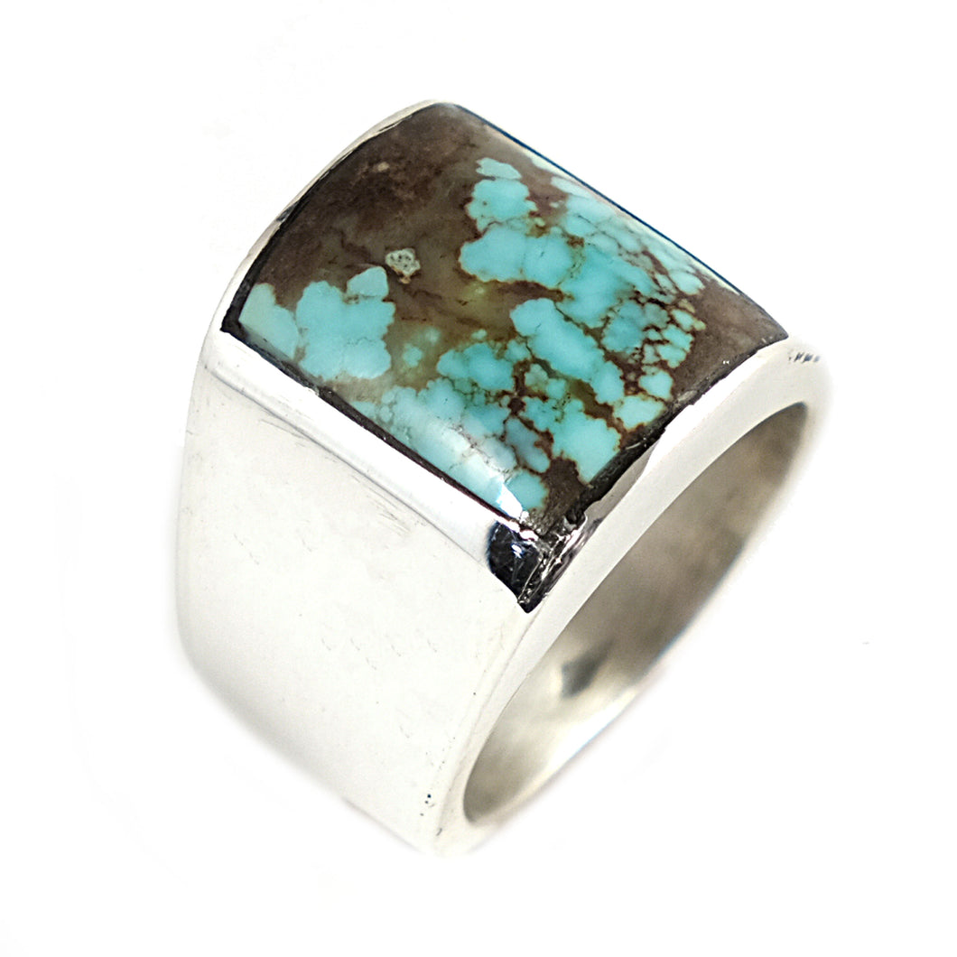 Large Mens Native American Turquoise Ring