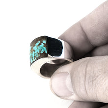 Mens Large Native American Turquoise Ring