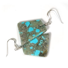 kingman turquoise slab earrings