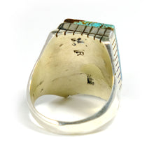 Mens Turquoise Ring By Navajo Artist Ray Jack