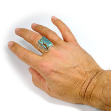 Mens No. 8 Turquoise Ring