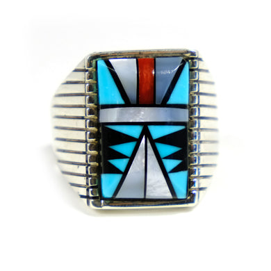 Turquoise Men's Ring Zuni