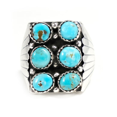 Vintage Mens Turquoise Ring